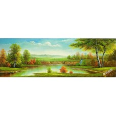 BW227 風景山水油畫