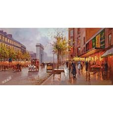 BW259街景油畫