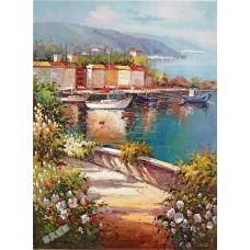 BW260地中海油畫