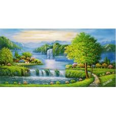 W561油畫山水畫