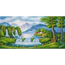W563油畫山水畫