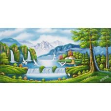 W571油畫山水畫