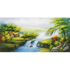 W572油畫山水畫