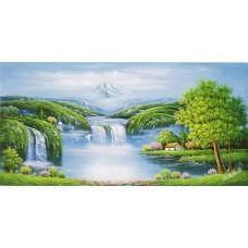 W574油畫山水畫