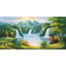 W575油畫山水畫