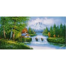 W577油畫山水畫