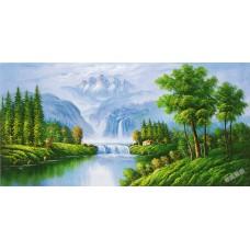 W579油畫山水畫