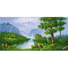 W584油畫山水畫