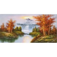 W591油畫山水畫