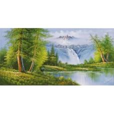 W594油畫山水畫