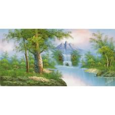 W596油畫山水畫