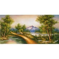 W601油畫山水畫