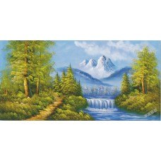 W603油畫山水畫