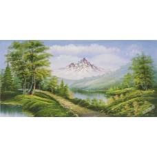 W613油畫山水畫
