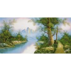 W615油畫山水畫