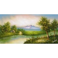 W616油畫山水畫