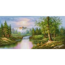 W618油畫山水畫