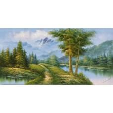 W620油畫山水畫