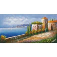 W623油畫地中海