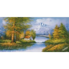 W624油畫山水畫