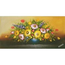 W625油畫 油畫花