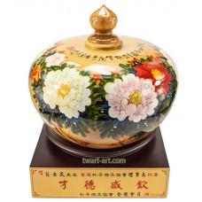 I8901 國畫聚寶盆-花開富貴