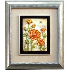 D13-20浮雕版畫 玫瑰