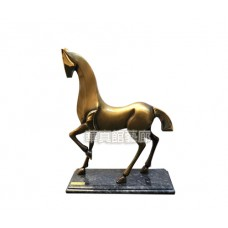 PR-24  銅雕 動物 藝術馬 (金)