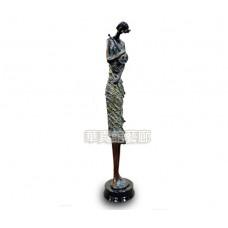 PR-11 銅雕 風中提琴女