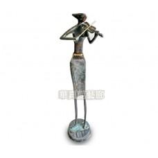 PR-12 銅雕 提琴女