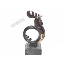 PR-17 銅雕 動物 起雞 聞雞起舞 圓雞
